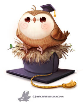 Daily Paint 1284. I GradHOOated!