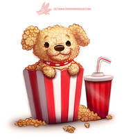 Daily Paint 1287. Pupcorn