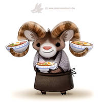 Daily Paint 1289. Ram-en Chef