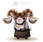 Daily Paint 1289. Ram-en Chef