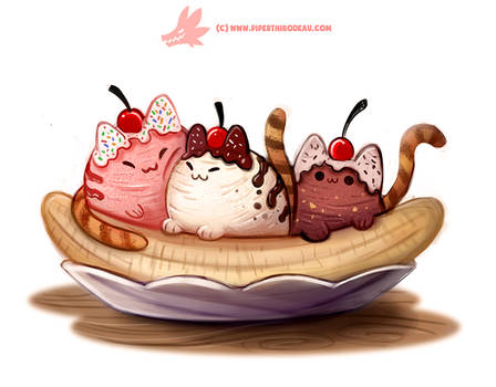 Daily Paint 1291. Ba-nyan-a Split
