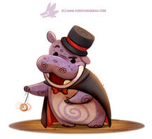 Daily Paint 1296. Hypnopotamus by Cryptid-Creations