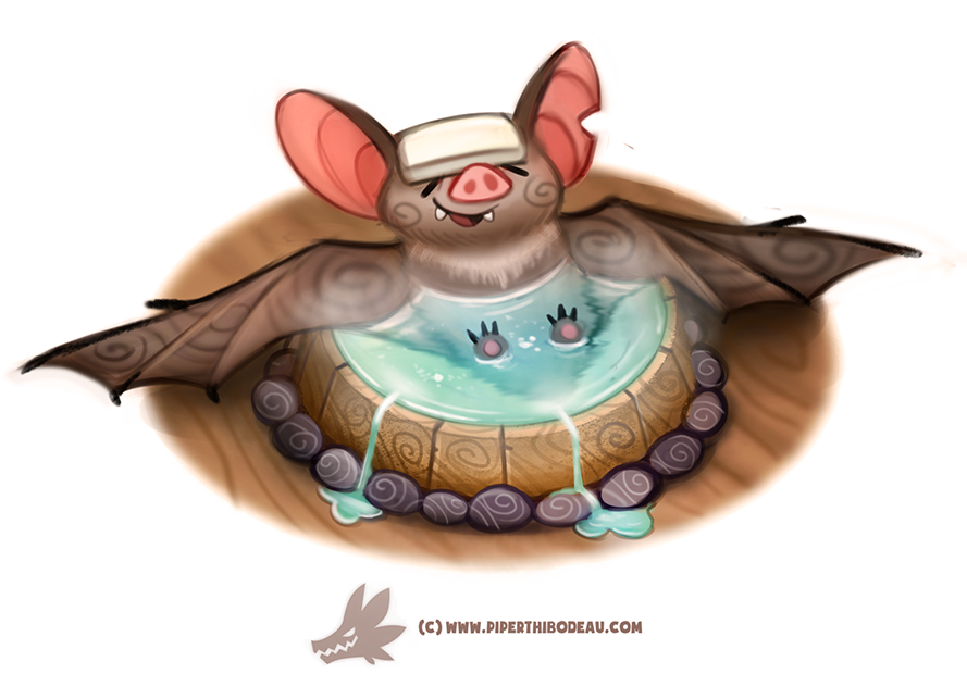 Daily Paint 1299. Bat-house