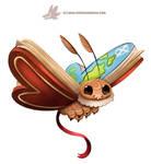 Daily Paint 1302. Atlas Moth