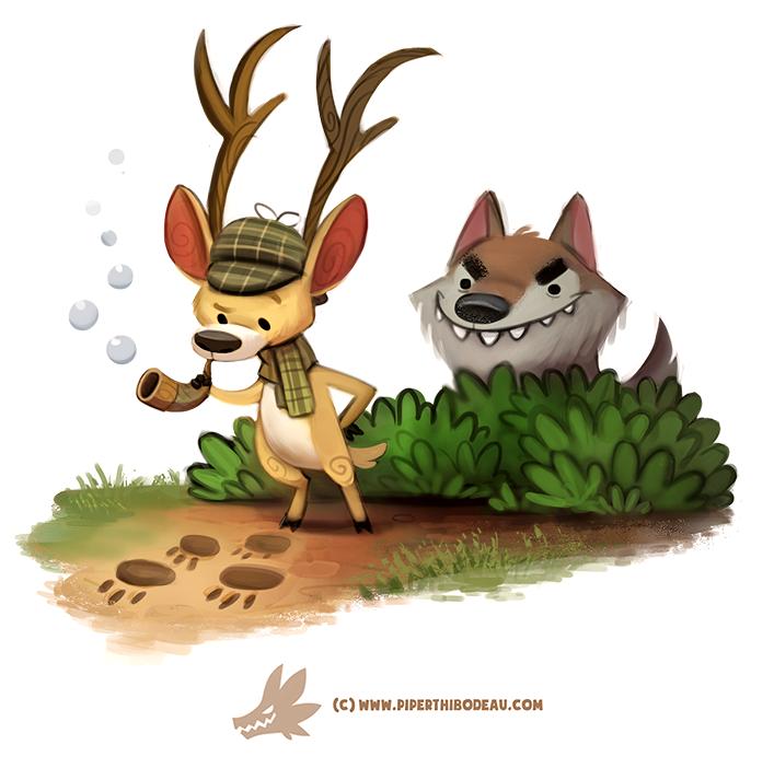 Daily Paint 1303. Deerstalker