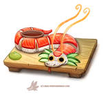Daily Paint 1305. Dragon Roll