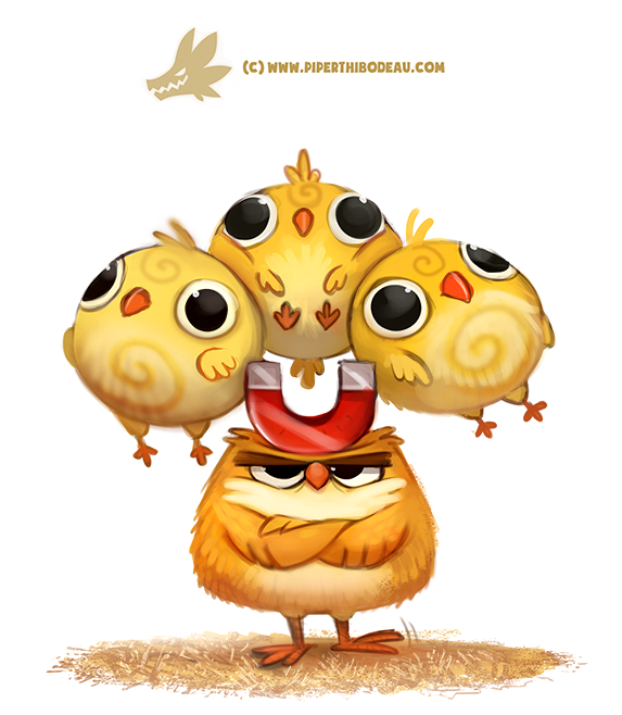 Daily Paint 1308. Chick Magnet