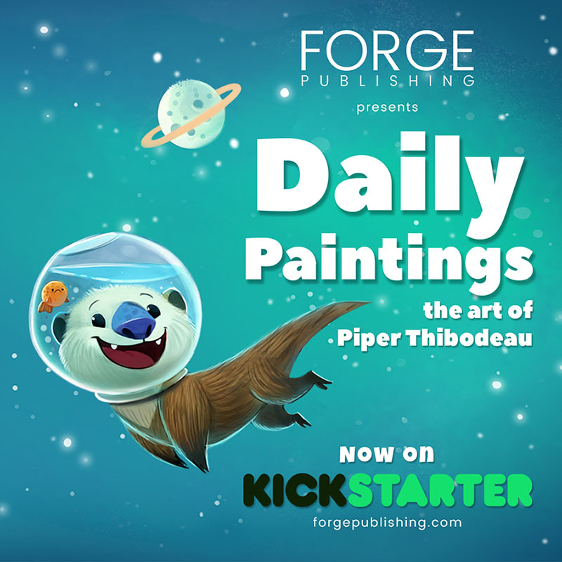 KickStarter for Daily Paintings now LIVE! by Cryptid-Creations