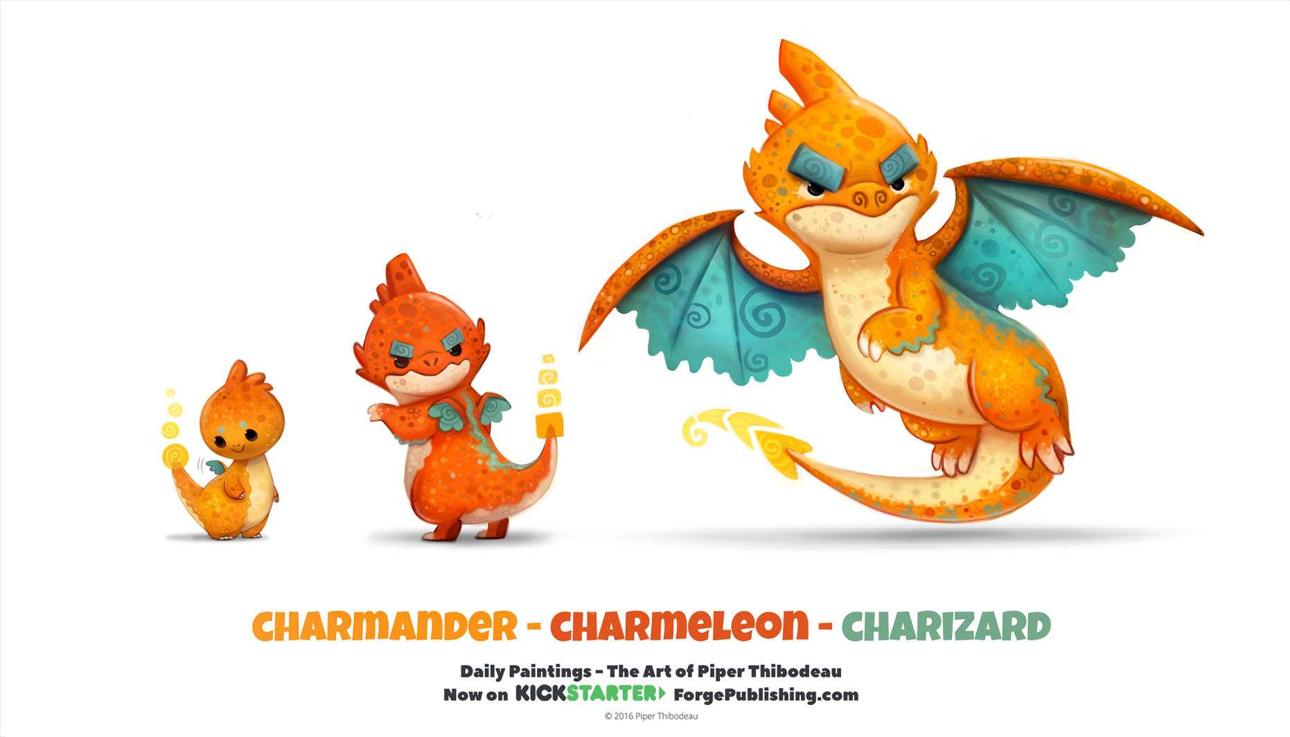 daily 1318 charmander charmeleon charizard by cryptid