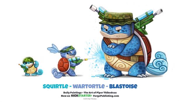 Daily 1323. Squirtle/ Wartortle / Blastoise
