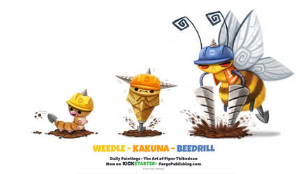 Weedle/ Kakuna/ Beedrill by Cryptid-Creations