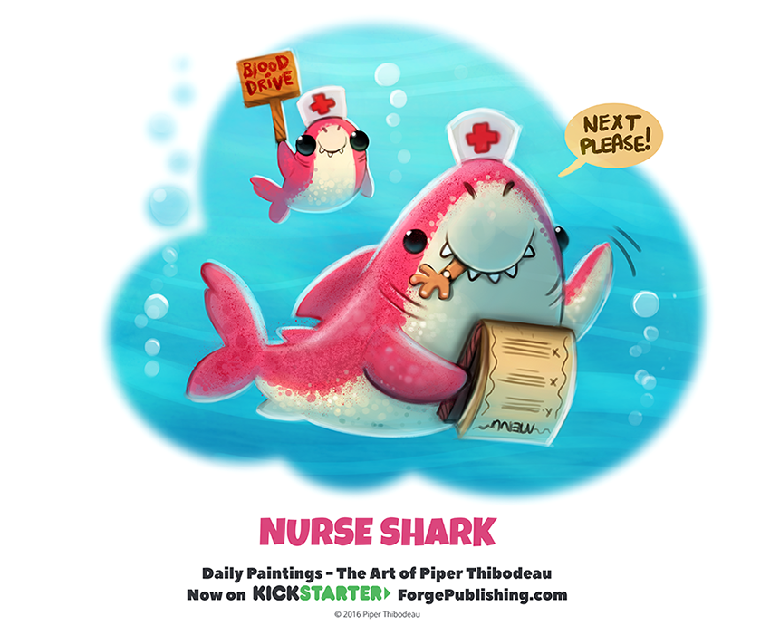 Daily 1336. Nurse Shark by Cryptid-Creations