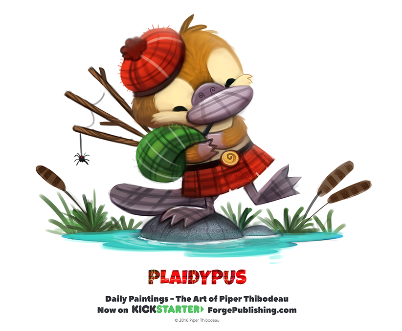 Daily 1338. Plaidypus by Cryptid-Creations