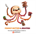 Daily 1348. Peanut-Butter and Jellyfish
