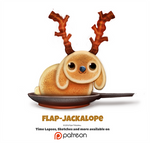 Daily 1355. Flap-Jackalope