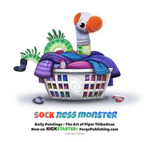 Daily 1364. Sock Ness Monster