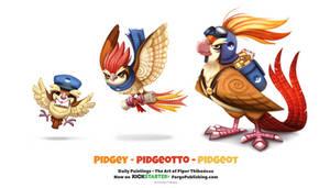 Pidgey - Pidgeotto - Pidgeot