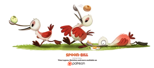 Day 1380. Spoon-bill by Cryptid-Creations