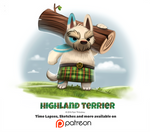 Day 1395. Highland Terrier