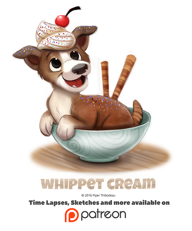 Day 1402. Whippet Cream by Cryptid-Creations