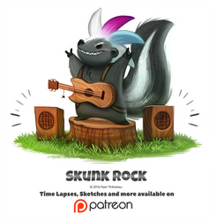 Day 1406. Skunk Rock by Cryptid-Creations