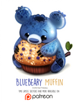 Day 1408. Bluebeary Muffin