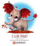 Day 1411. E-leaf-phant
