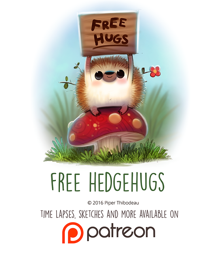 Day 1445. Free Hedgehugs