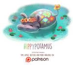 Daily Paint 1446. Hippypotamus