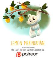 Daily Paint 1452. Lemon Meringutan