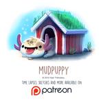 Daily Paint 1459. Mudpuppy