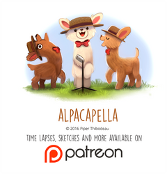 Daily Paint 1464. Alpacapella by Cryptid-Creations