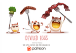 Daily Paint 1465. Deviled Eggs