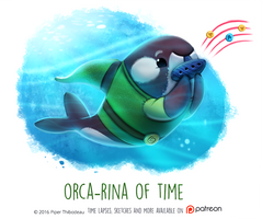 Daily Paint 1467. Orca-rina of Time