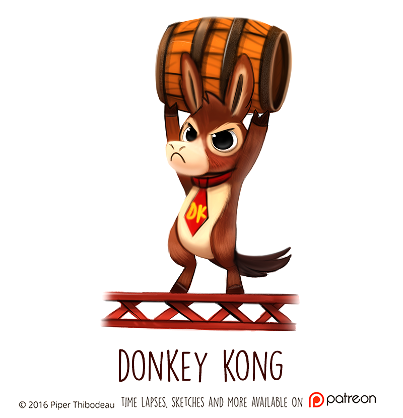 Daily Paint 1468. Donkey Kong by Cryptid-Creations
