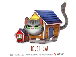 Daily Paint 1470. House Cat