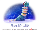 Daily Paint 1474. Branchiosaurus