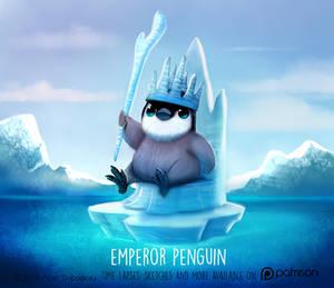 Daily Paint 1475. Emperor Penguin