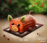 Daily Paint 1478. Yule Hog