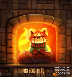 Daily Paint 1481. Firefox Place