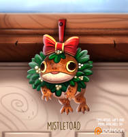 Daily Paint 1482. Mistletoad by Cryptid-Creations