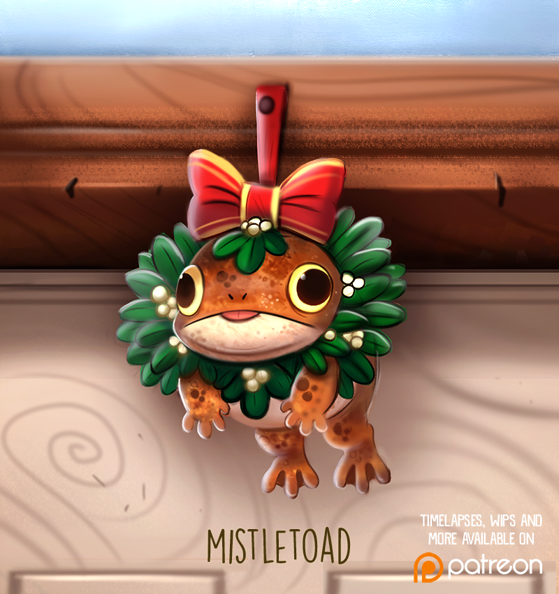 Daily Paint 1482. Mistletoad