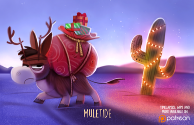 Daily Paint 1486. Muletide