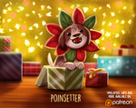 Daily Paint 1487. Poinsettier