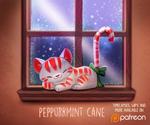 Daily Paint 1489. Peppurrmint Cane