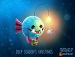 Daily Paint 1490. Deep Season's Greetings