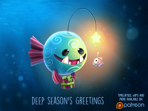 Daily Paint 1490. Deep Season's Greetings