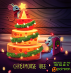 Daily Paint 1491. Christmouse Tree