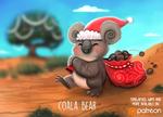 Daily Paint 1492. Coala Bear