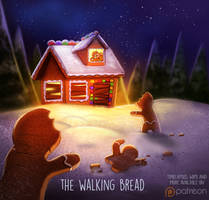 Daily Paint 1434. The Walking Bread